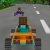 8 bit 3D racing játék