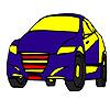 Gyors kék modell autó színező játék