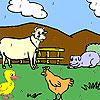 Funny farm állatok színezés játék