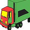 Zöld nagy teherautó színezés játék