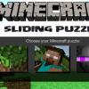 Minecraft csúszó Puzzle játék