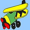 Régi nyugati repülőgép színező játék
