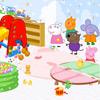 Peppa Pig játszószoba dekoráció játék