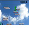 Rakéta platformokon játék